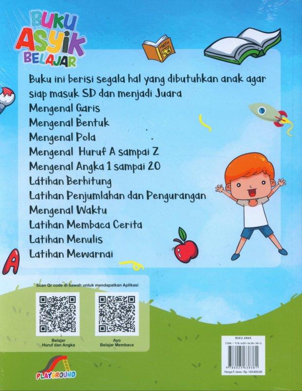 Cover Belakang Buku Buku Asyik Belajar Untuk PAUD dan TK