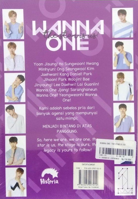 Cover Belakang Buku Wanna One: The Star Is Us [Bonus: Sticker+Big Poster]