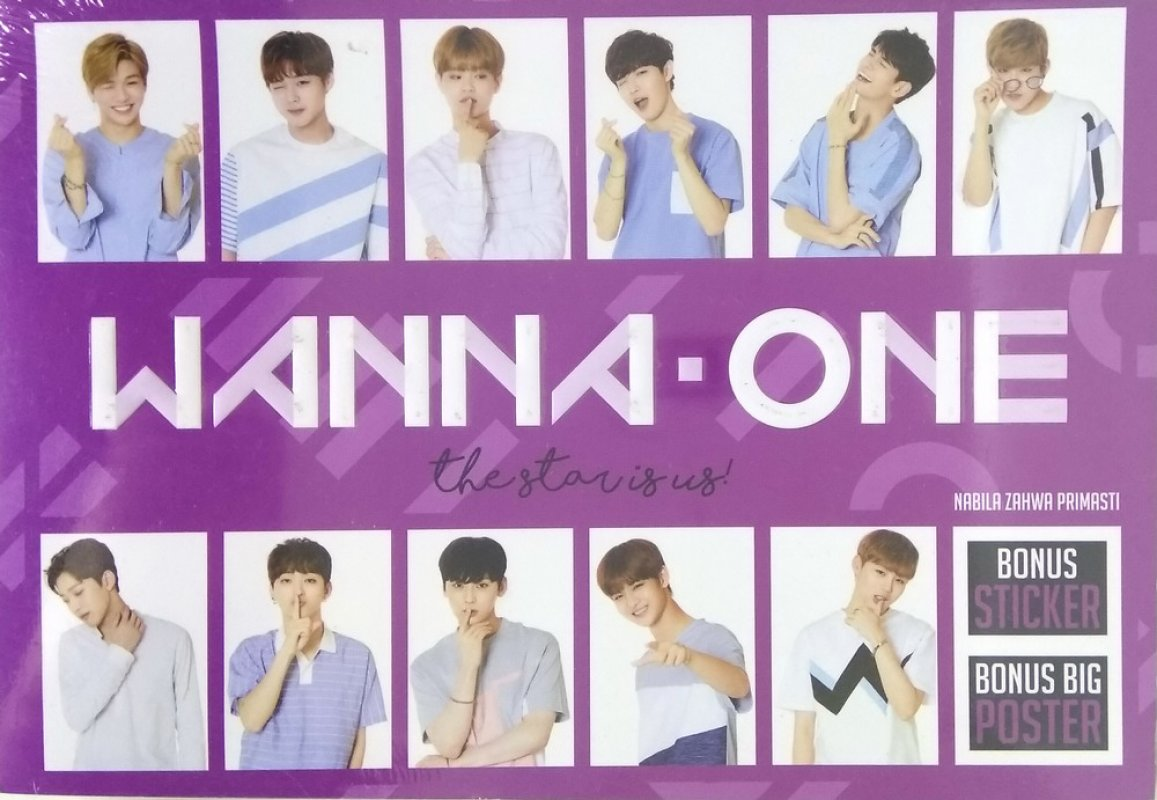 Cover Buku Wanna One: The Star Is Us [Bonus: Sticker+Big Poster]