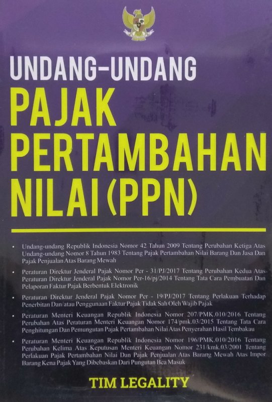 Cover Buku Undang-Undang Pajak Pertambahan Nilai (PPN)