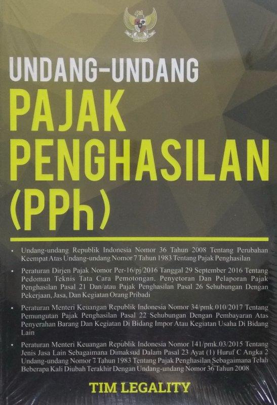 Cover Buku Undang-Undang Pajak Penghasilan (PPh)