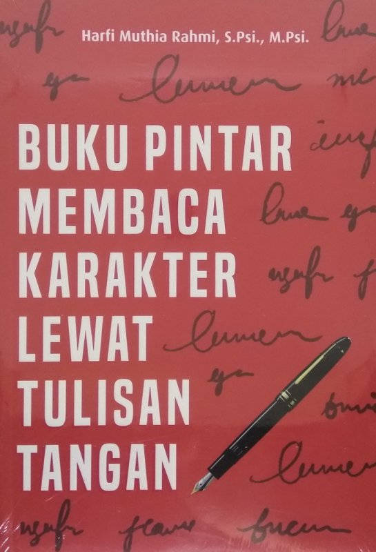 Cover Buku Buku Pintar Membaca Karakter Lewat Tulisan Tangan