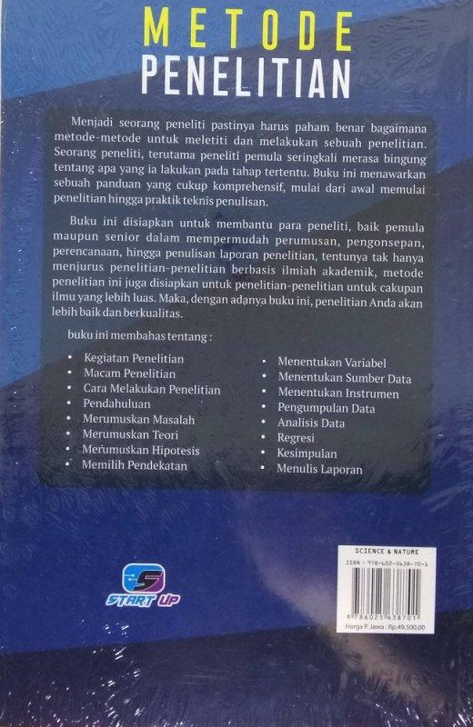 Cover Belakang Buku Metode Penelitian - Start Up