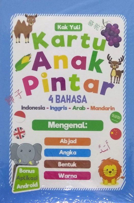 Cover Buku Kartu Anak Pintar 4 Bahasa (Indonesia-Inggris-Arab-Mandarin)