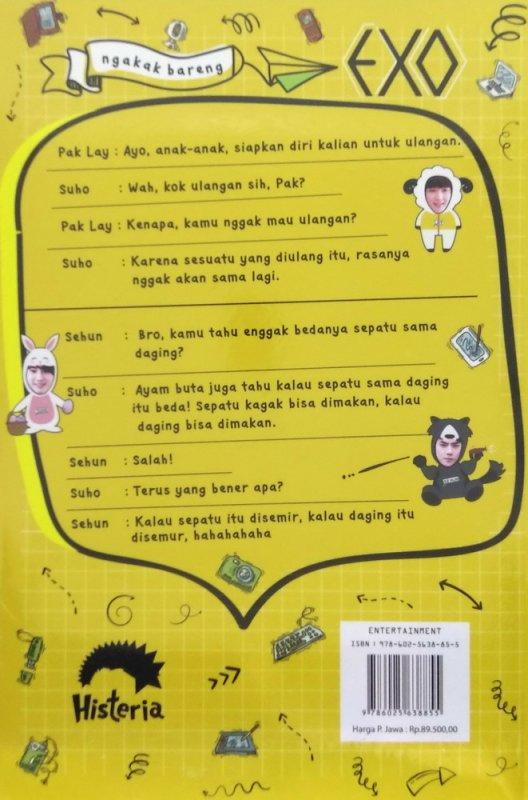 Cover Belakang Buku Ngakak Bareng EXO
