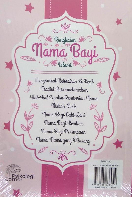 Cover Belakang Buku Rangkaian Nama Bayi Islami (Himpunan Nama-nama Bayi Islami Indah bagi Sang Bayi)