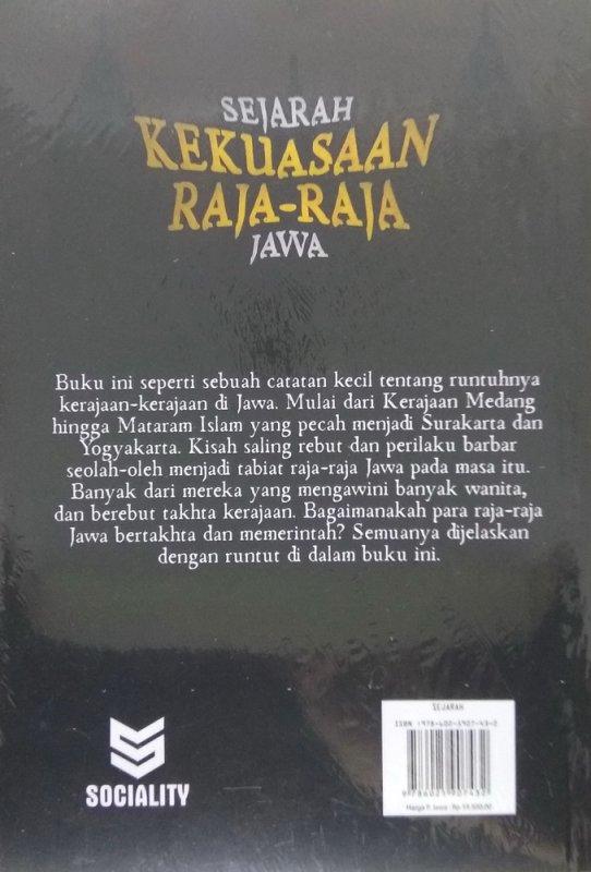 Cover Belakang Buku Sejarah Kekuasaan Raja-Raja Jawa