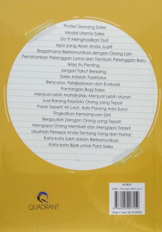 Cover Belakang Buku SALES HEBAT: Menjadi Sales Kuat Tahan Banting untuk Penjualan Dahsyat