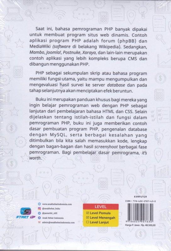 Cover Belakang Buku Buku Sakti Pemrograman Web Seri PHP
