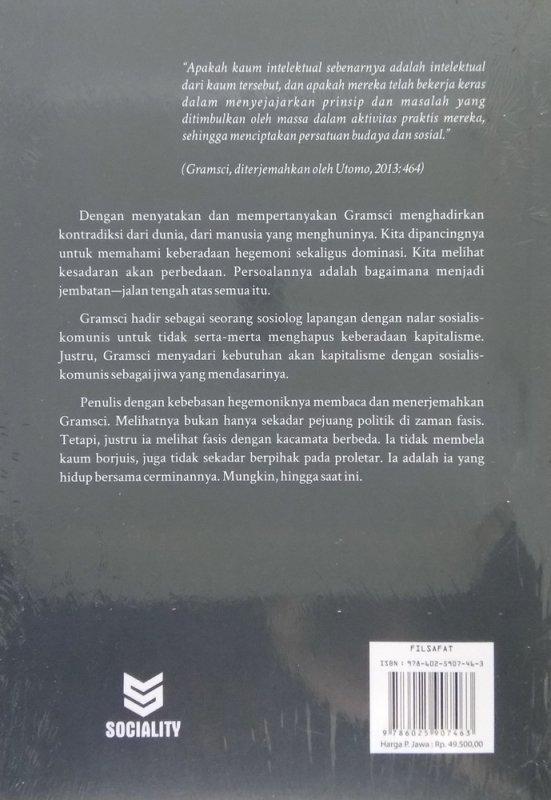 Cover Belakang Buku GRAMSCI: Pikiran Yang Terbebas Dalam Jeruji