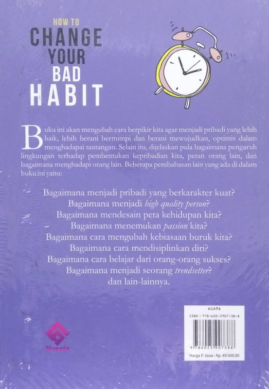 Cover Belakang Buku How To Change Your Bad Habit