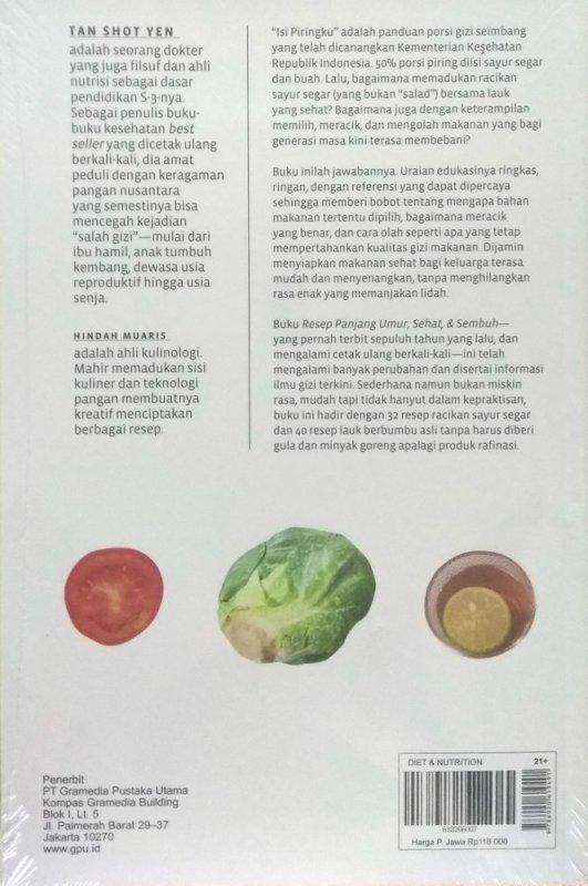 Cover Belakang Buku Resep Panjang Umur Sehat & Sembuh