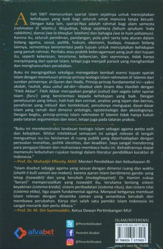Cover Belakang Buku Fikih Akbar: Prinsip-Prinsip Teologis Islam Rahmatan Lil Alamin