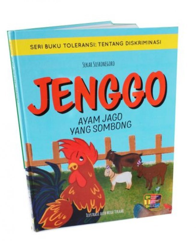 Cover Belakang Buku Jenggo Ayam Jago yang Sombong (Full Color)