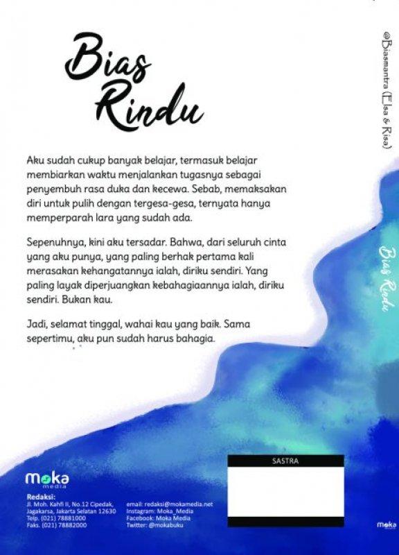 Cover Belakang Buku Bias Rindu