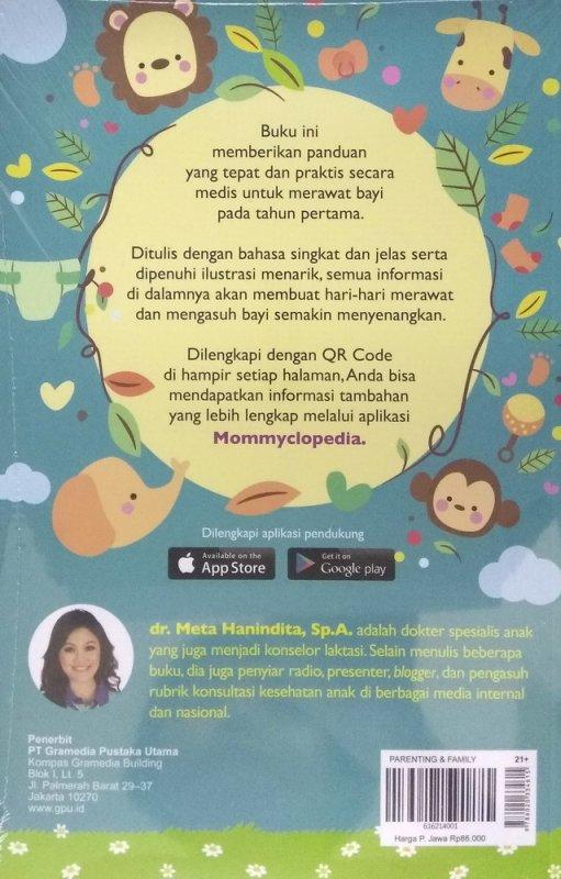 Cover Belakang Buku Mommyclopedia: Panduan Lengkap Merawat Bayi ( 0-1 Tahun )