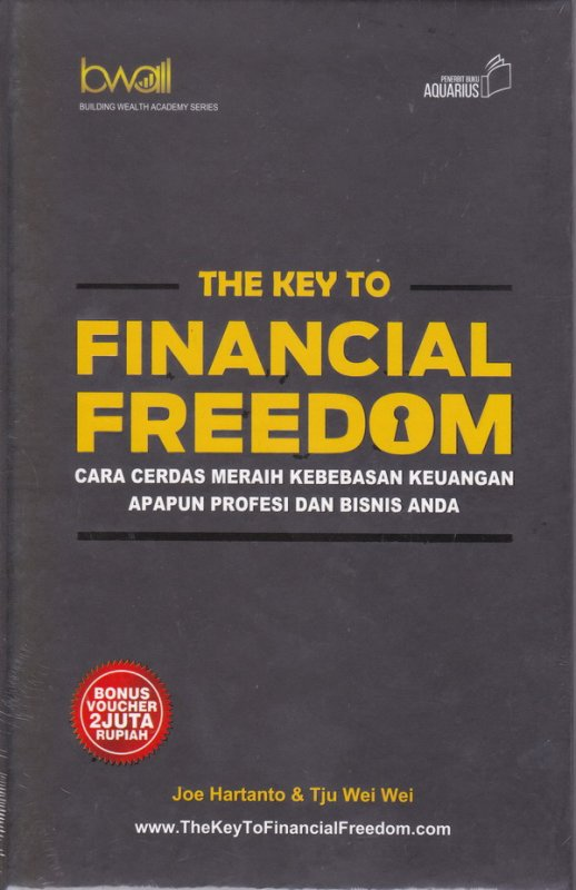 Cover Buku The Key To Financial Freedom (Hard Cover)