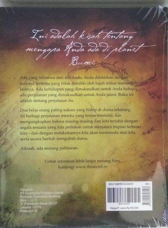 Cover Belakang Buku The Secret - HERO (Hard Cover)