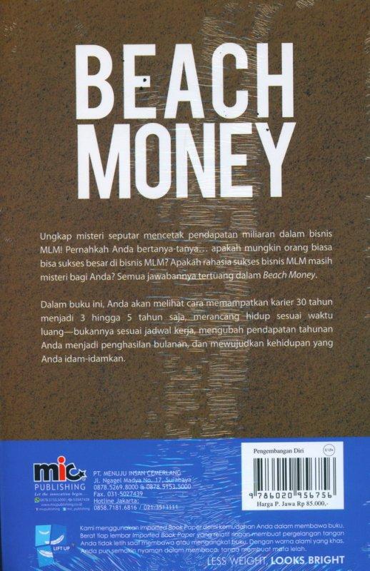 Cover Belakang Buku Beach Money: Mewujudkan Kehidupan Impian Melalui Bisnis MLM