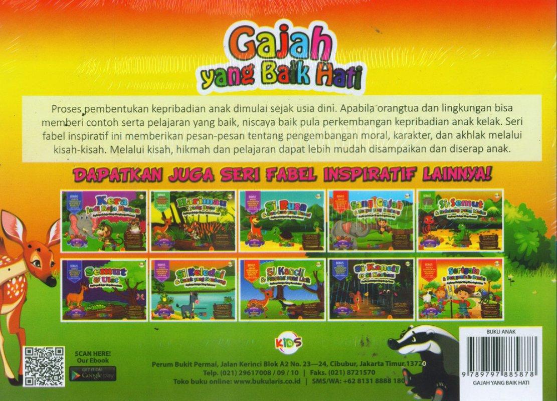 Cover Belakang Buku Gajah yang Baik Hati (Bilingual) Full Color
