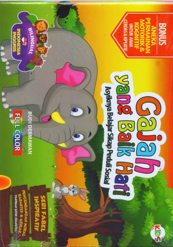 Cover Buku Gajah yang Baik Hati (Bilingual) Full Color