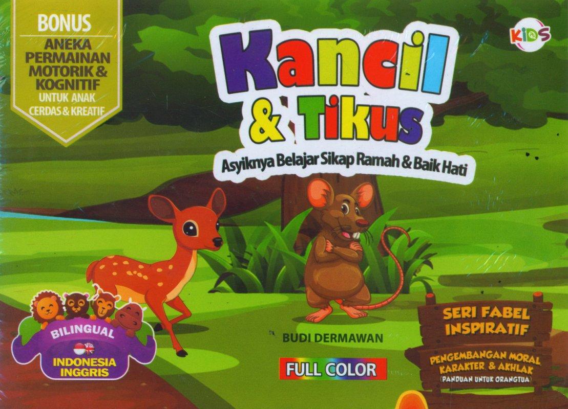 Cover Buku Kancil & Tikus (Bilingual) Full Color
