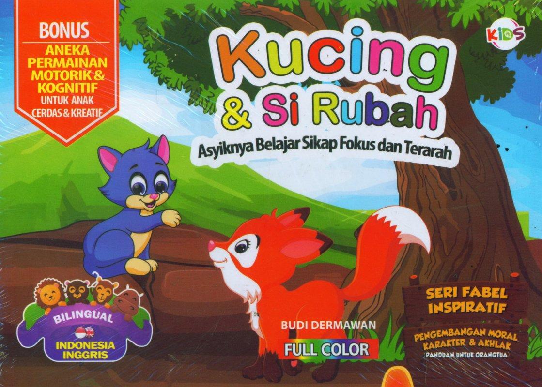 Cover Buku Kucing & Si Rubah (Bilingual) Full Color
