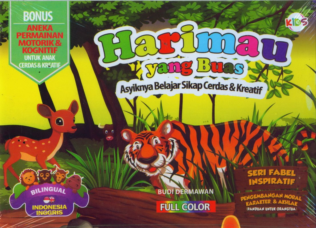 Cover Buku Harimau yang Buas (Bilingual) Full Color