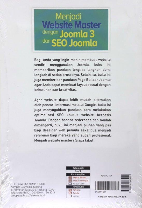Cover Belakang Buku Menjadi Website Master dengan Joomla 3 dan SEO Joomla