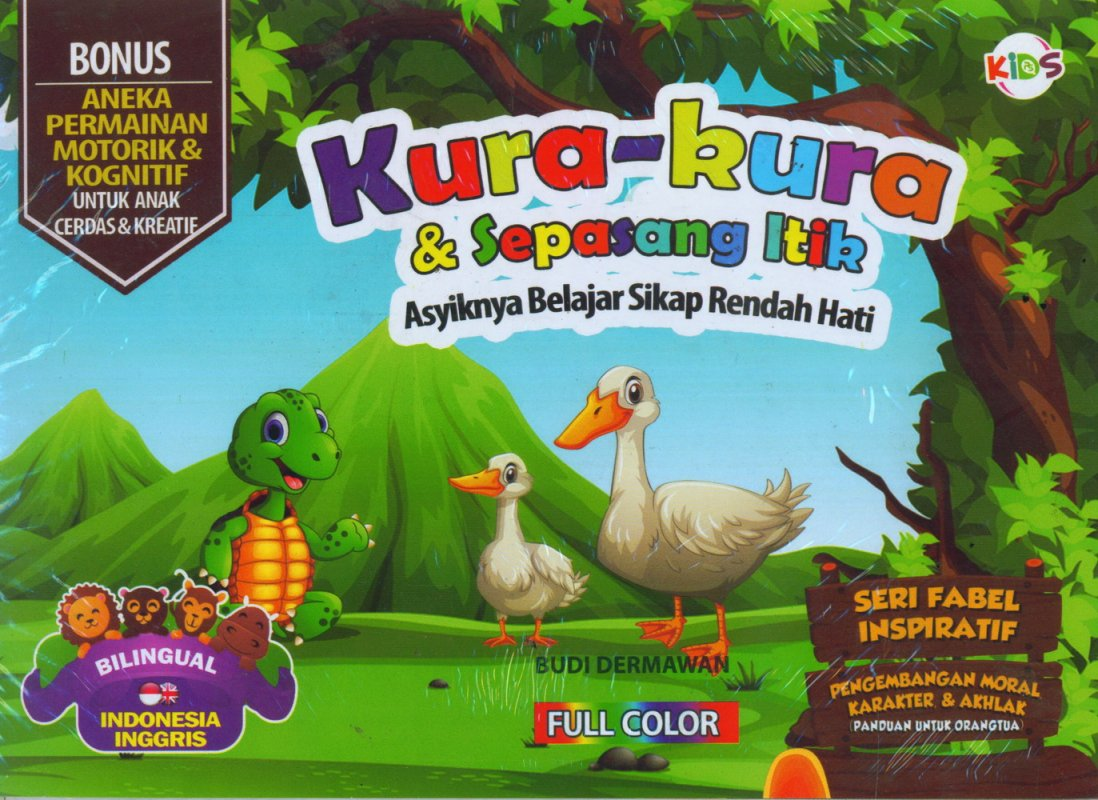 Cover Buku Kura-Kura & Sepasang Itik (Bilingual) Full Color