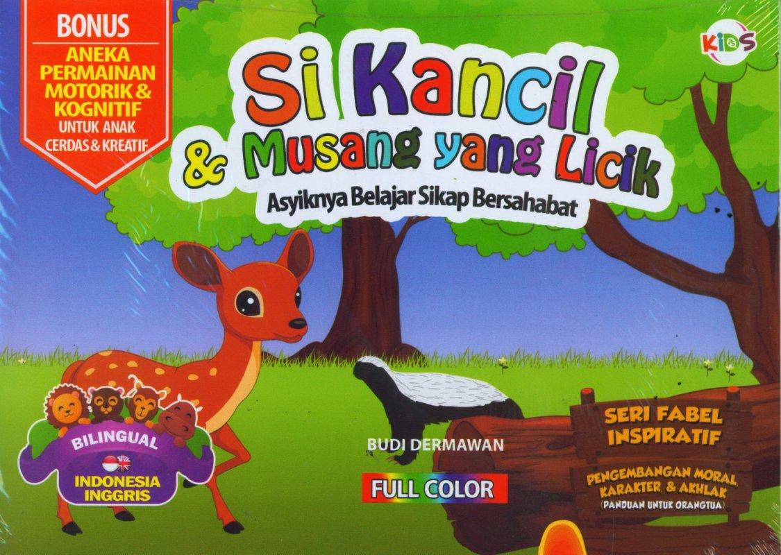 Cover Buku Si Kancil & Musang yang Licik (Bilingual) Full Color