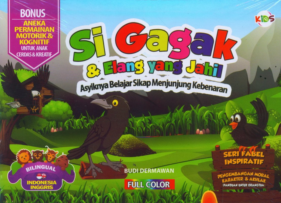 Cover Buku Si Gagak & Elang yang Jahil (Bilingual) Full Color