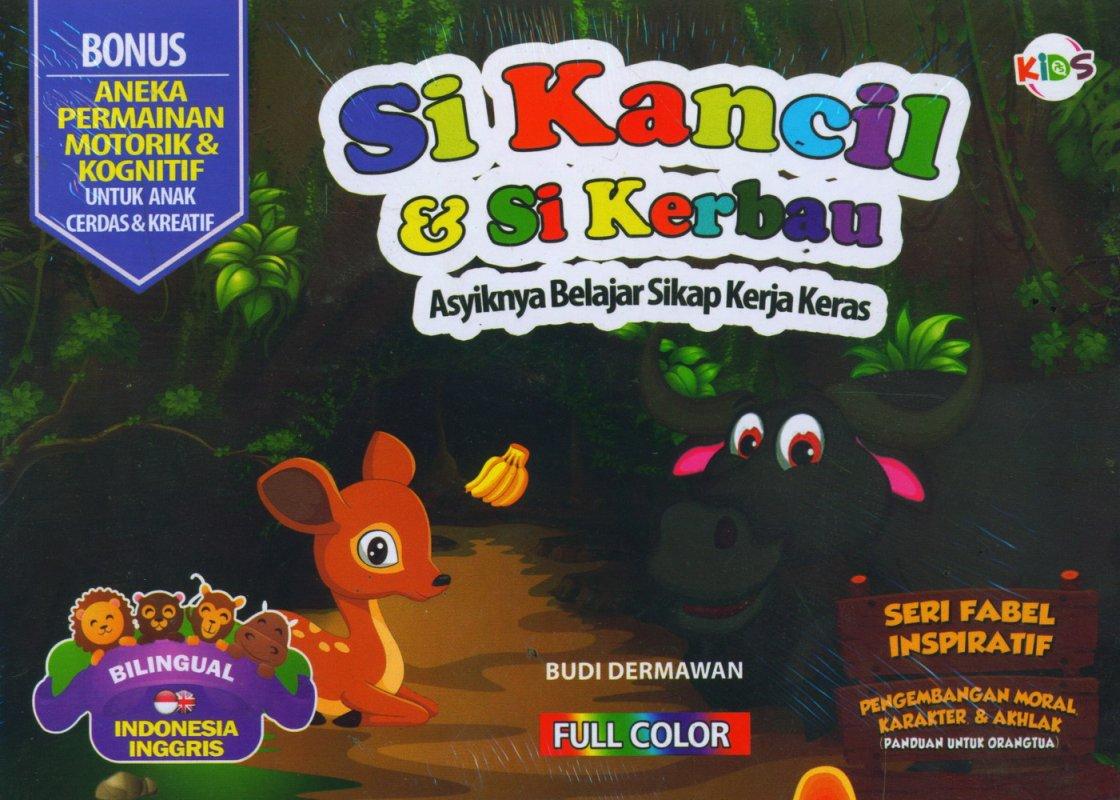 Cover Buku Si Kancil & Si Kerbau (Bilingual) Full Color