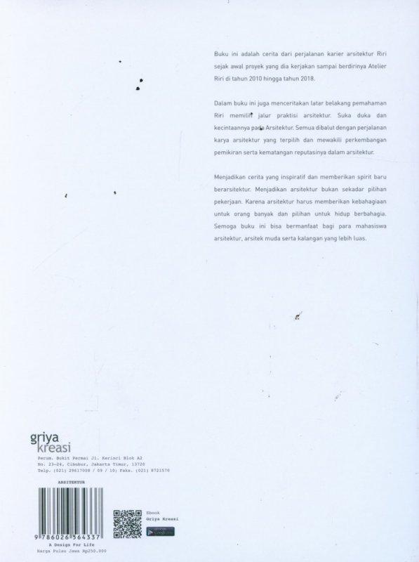 Cover Belakang Buku A DESIGN FOR LIFE 2006-2018