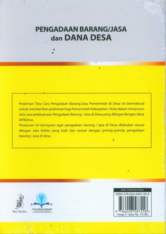 Cover Belakang Buku Pengadaan Barang/Jasa dan Dana Desa