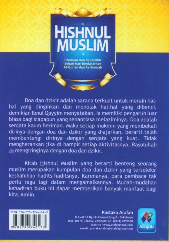 Cover Belakang Buku HISHNUL MUSLIM