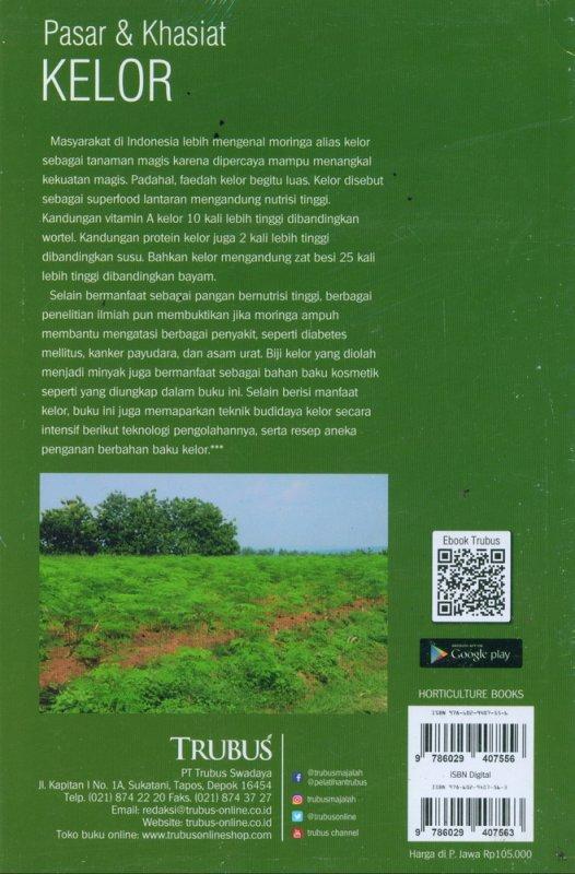 Cover Belakang Buku Pasar & Khasiat KELOR (Vol. 14)