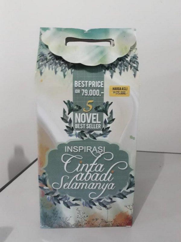 Cover Buku Box Paket 5 Novel Inspirasi Cinta Abadi Selamanya