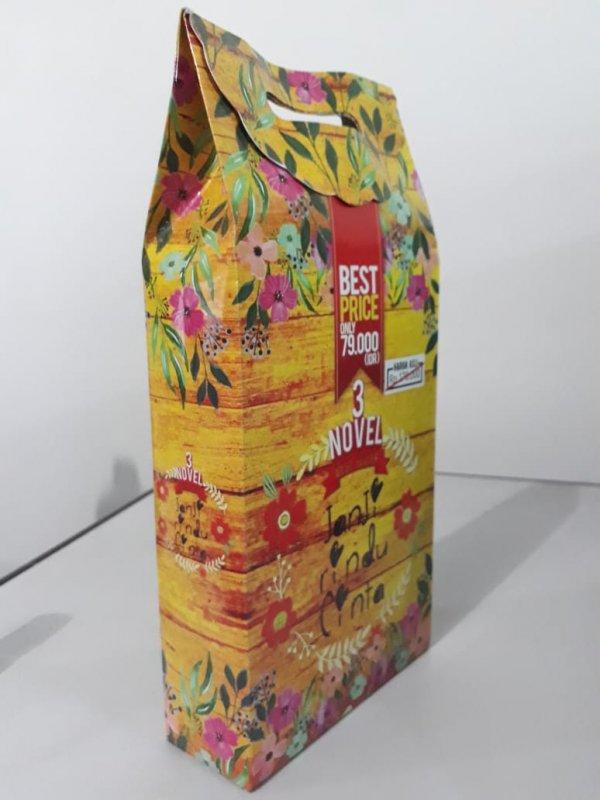 Cover Belakang Buku Box Paket 3 Novel Janji Rindu Cinta
