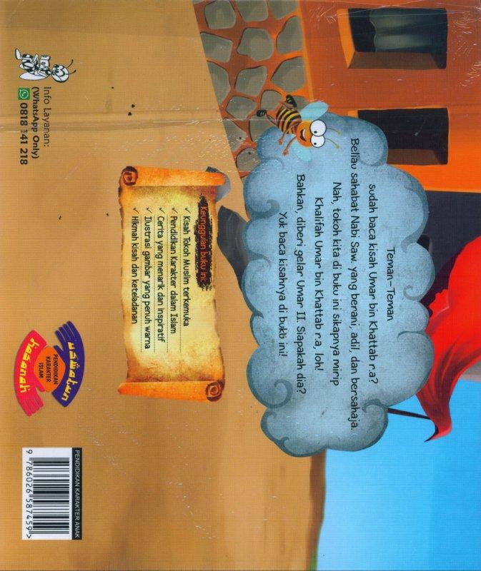 Cover Belakang Buku Umar bin Abdul Aziz Penguasa yang Adil dan Pembela Rakyat Kecil