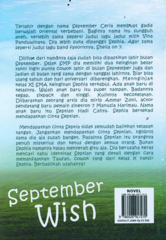 Cover Belakang Buku September Wish