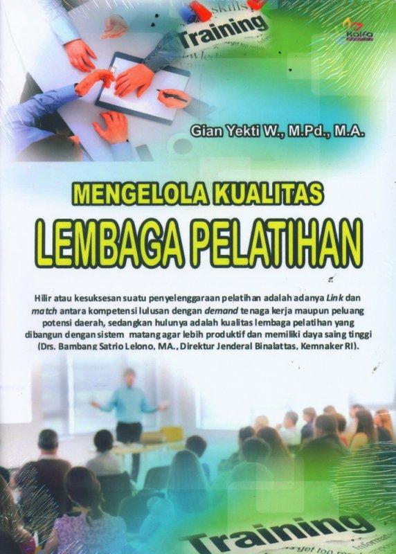 Cover Buku Mengelola Kualitas Lembaga Pelatihan