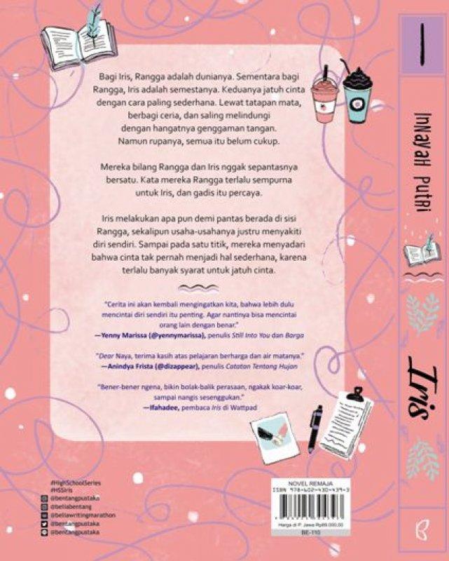 Cover Belakang Buku Iris : Syarat Jatuh Cinta