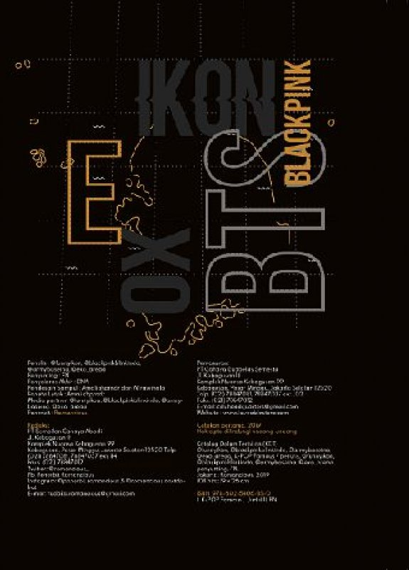 Cover Belakang Buku K-POP Famous [Bonus 4 gift]
