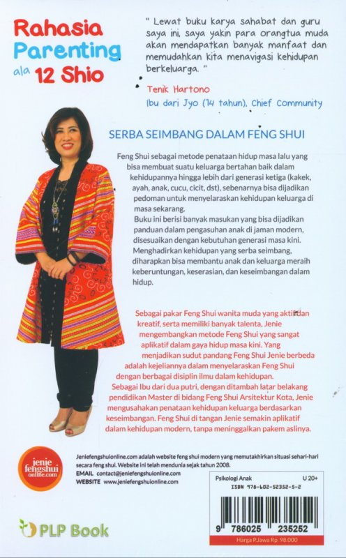 Cover Belakang Buku Rahasia Parenting ala 12 Shio