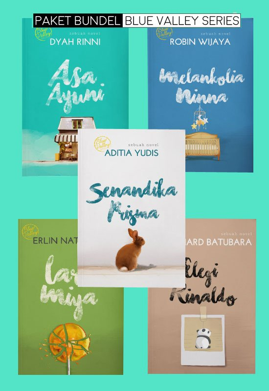 Cover Depan Buku Paket Bundel Blue Valley Series