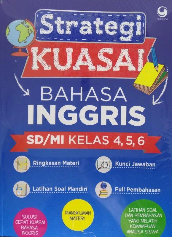 Cover Buku Strategi Kuasai Bahasa Inggris SD/MI Kelas 4, 5, 6