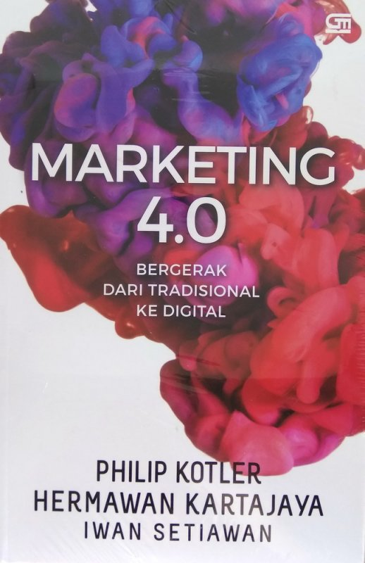 Cover Depan Buku Marketing 4.0: Bergerak dari Tradisional ke Digital