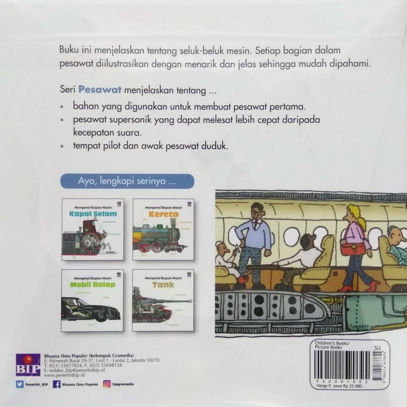 Cover Belakang Buku Mengenal Bagian Mesin : Pesawat