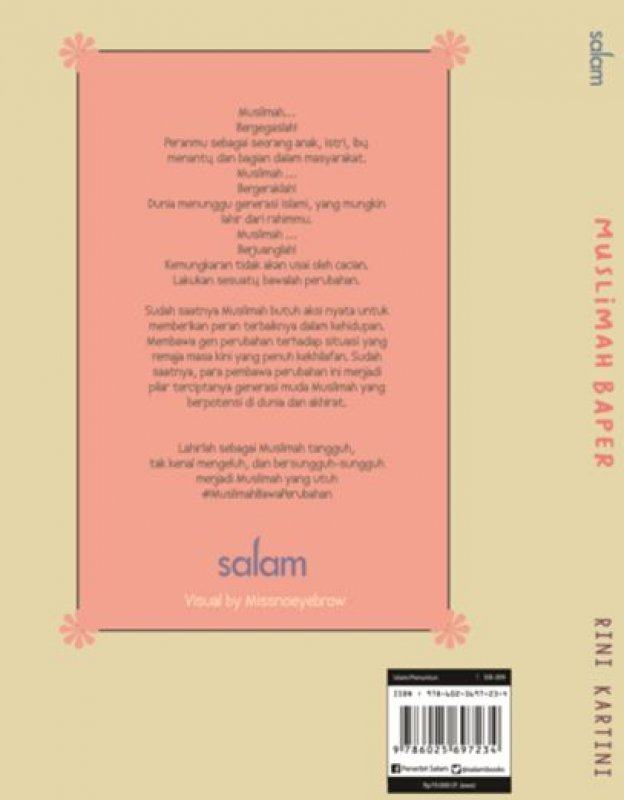 Cover Belakang Buku MUSLIMAH BAPER (Hard Cover)